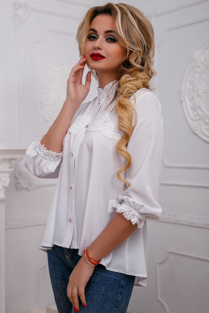 Красивая женская блуза PREMIUM 2583 белый