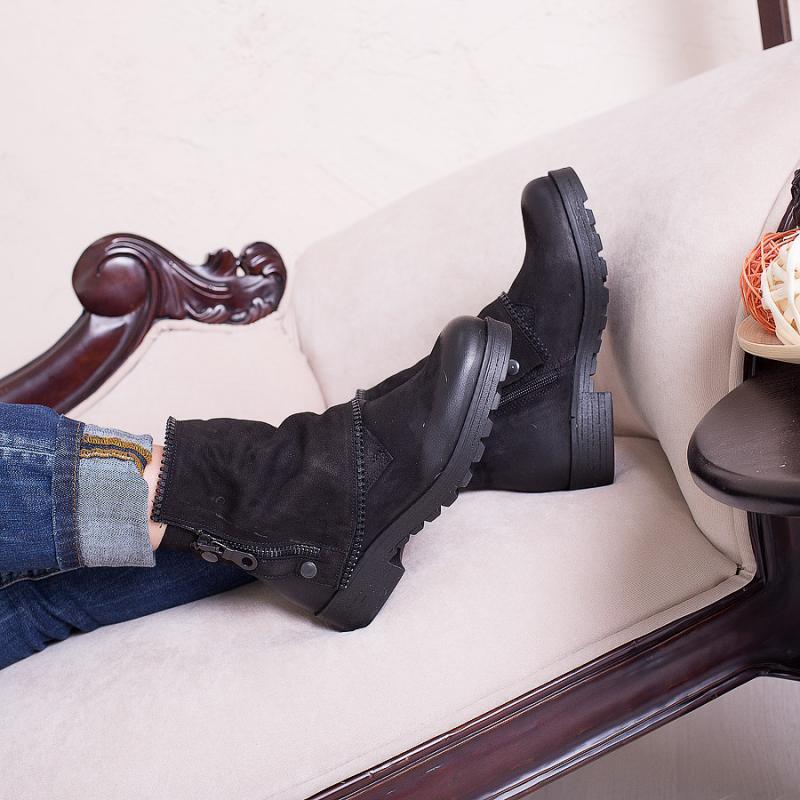 Ботинки нубуковые t1014