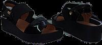 """Индивидуальный пошив. Женские легкие босоножки из серии """"комфорт"""", лаковая кожа черного цвета"""