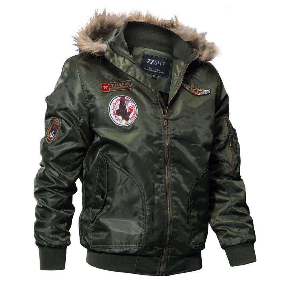 Армейская толстая, флисовая, брендовая куртка (бомбер) для мужчин