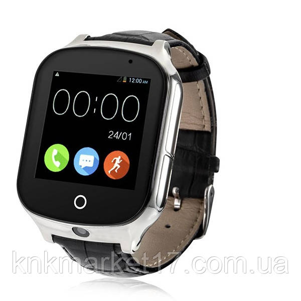 Smart watch A19 black(шкіра)