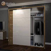Асти Плавное закрытие дверей к шкафу-купе дуб крафт + белый глянец Миро-Марк