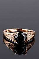 Кольцо Xuping с черным камнем