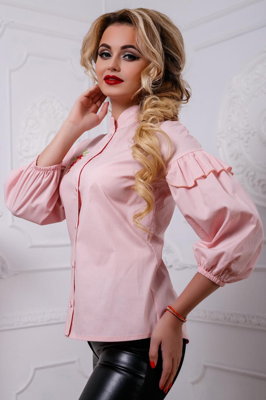Красивая женская блуза PREMIUM 2580 розовый