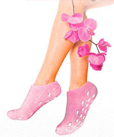 Gel Spa Socks (Гелевые увлажняющие  носочки) Розовые (Упаковка примята)