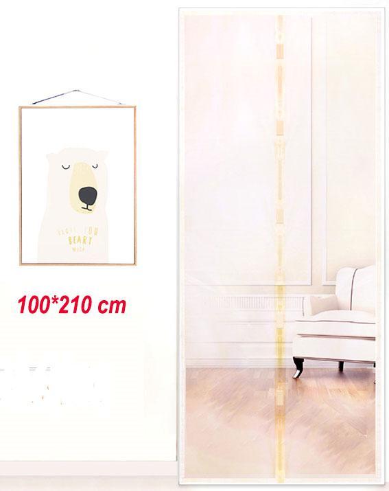 Антимоскитные сетки (бежевый цвет) на двери на магнитах. 100*210см