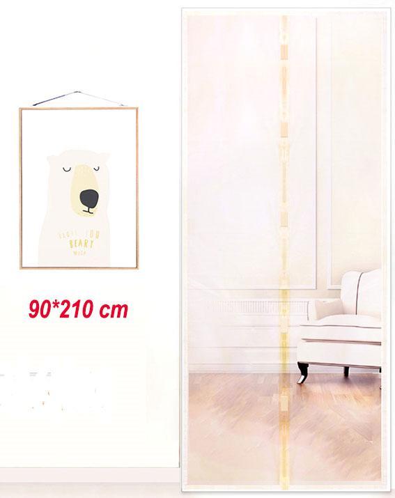 Антимоскитные сетки (бежевый цвет) на двери на магнитах. 90*210см.