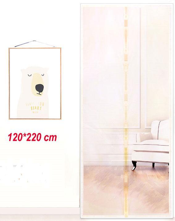Антимоскитные сетки (бежевый цвет) на двери на магнитах. 120*220см