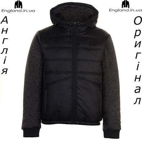 Куртка Everlast черная весенняя с вязаными рукавами