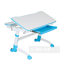 Регулируемая парта FunDesk Volare Blue + Детское ортопедическое кресло Primavera II Blue, фото 3