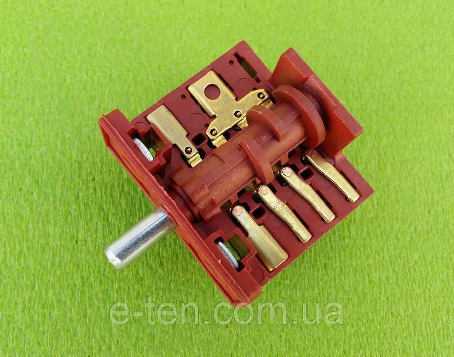 Переключатель пятипозиционный AC401A (AC4) /16А /250V /Т150(контакты снаружи 5+4) для духовок Liberty (Турция)
