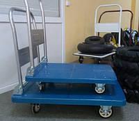 Тележки платформенные ПЛ150, г/п 150 кг, платформа 720х490мм, колеса на подшипниках Ф100 мм