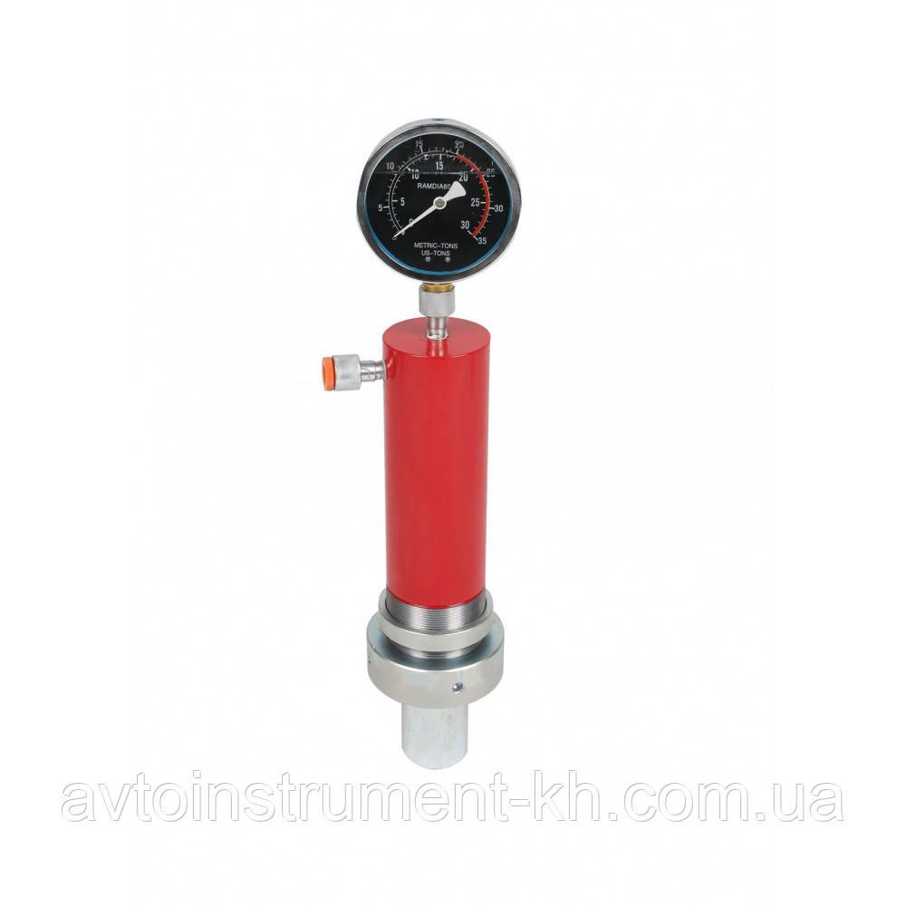 Гидравлический цилиндр для пресса с манометором 10 тонн Profline 97310