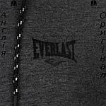 Кофта худи Everlast темно-серая на молнию с манжетами | Кофта худі Everlast темносіра на блискавку, фото 3