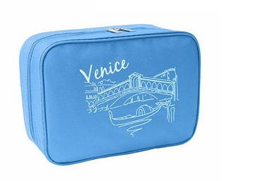 Дорожный органайзер для косметики Venice Голубой, фото 2