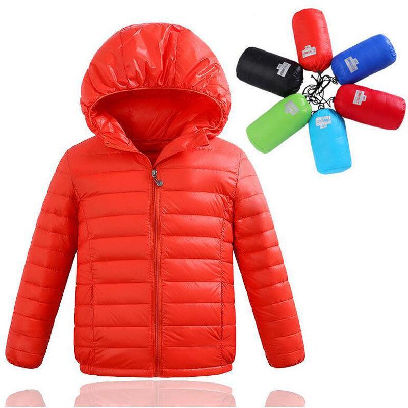 Детские зимние теплые пуховые куртки для мальчиков и девочек на гусином пуху.