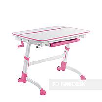 Регулируемая парта FunDesk Volare Pink + Детское ортопедическое кресло Primavera II Pink, фото 2