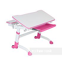 Регулируемая парта FunDesk Volare Pink + Детское ортопедическое кресло Primavera II Pink, фото 3