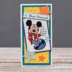 Открытка конверт С Днём Рождения Микки Маус