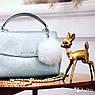 Меховые брелоки на сумку Помпоны. Беж, фото 3