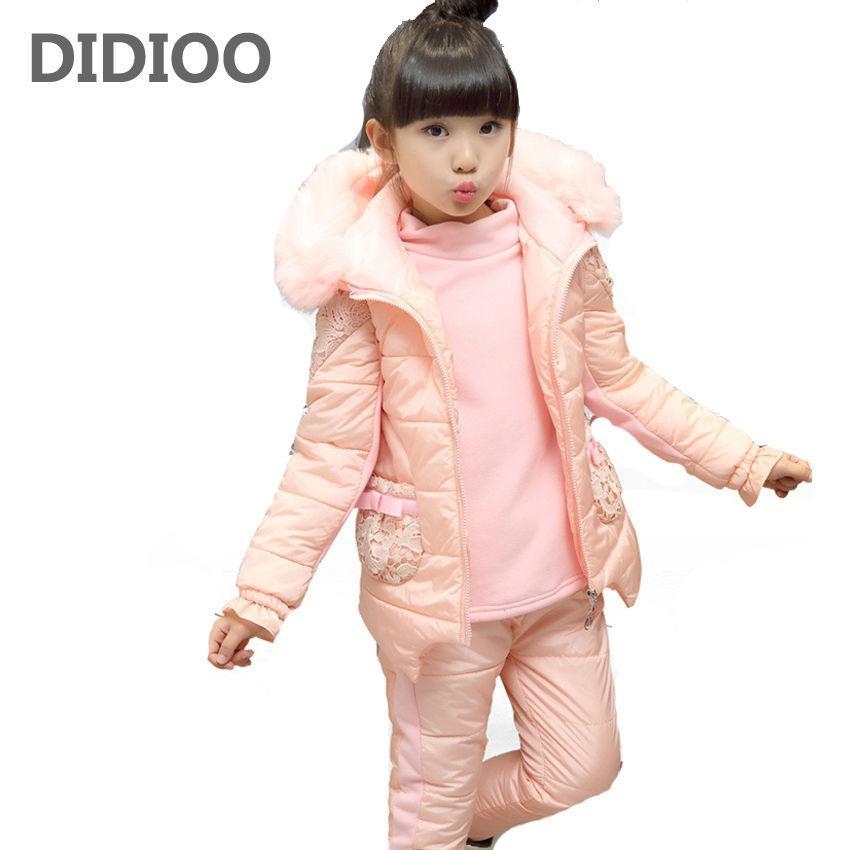 Детский зимний комплект-( костюм-Пуховик) для мальчиков-девочек.