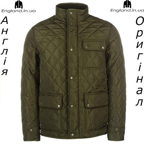 Куртка стеганая весенняя Firetrap цвет хаки | Куртка весняна Firetrap стьогана колір хакі