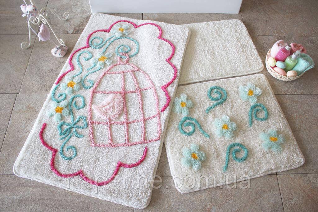 Коврики для ванной комнаты ALESSIA 3 предмета
