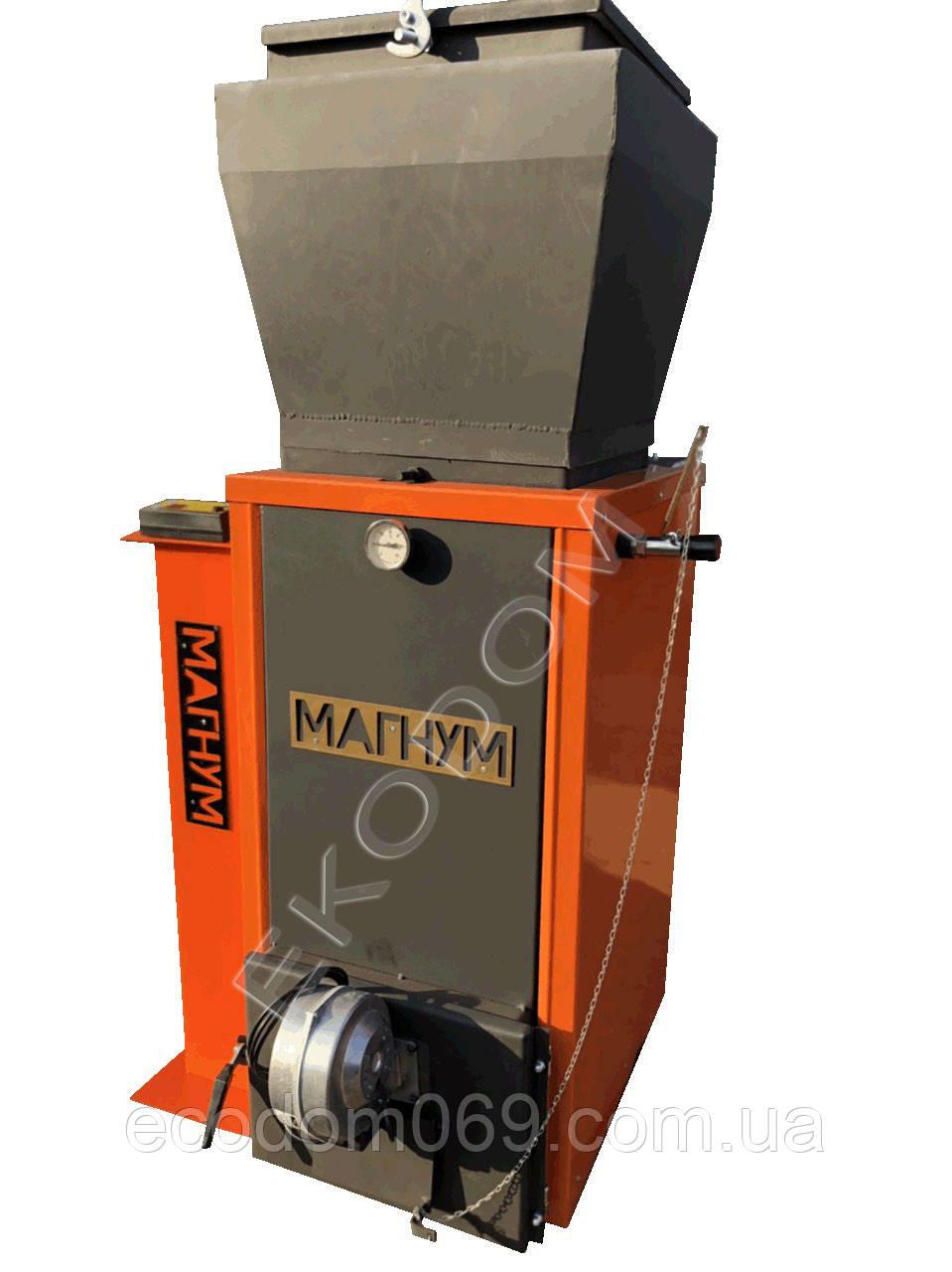 Котел шахтного типа Магнум 18 кВт с дополнительным бункером