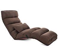 """Уценка! Кресло трансформер удлиненное """"Релакс"""". Кофейное. (C1)"""