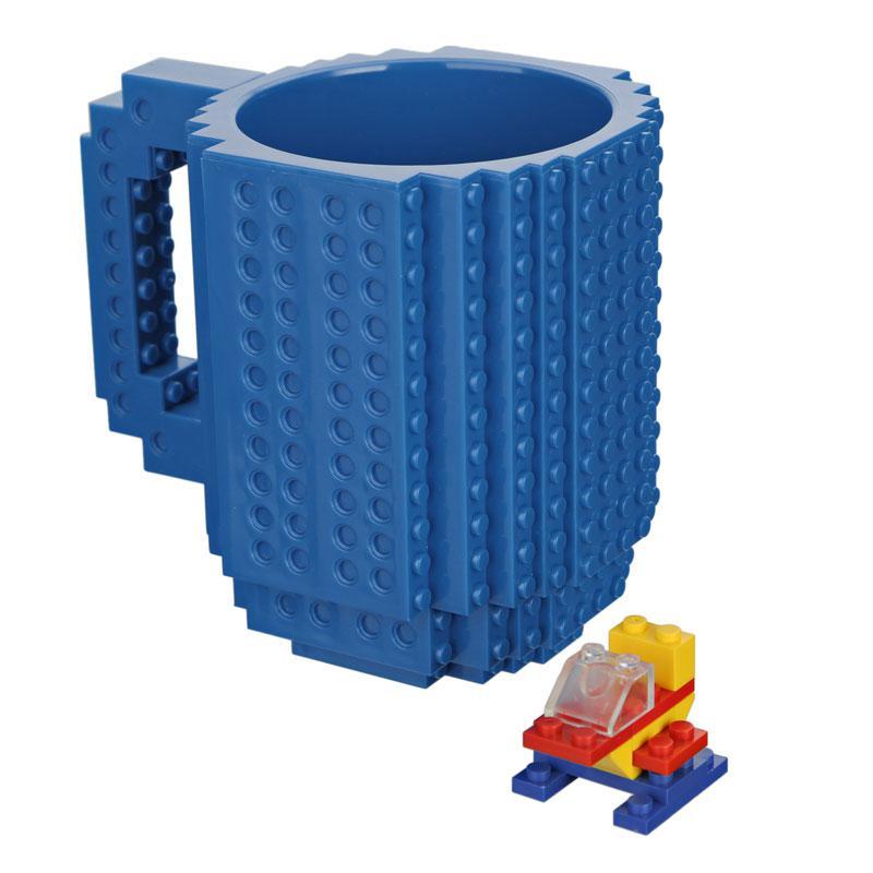 Чашка конструктор Голубая