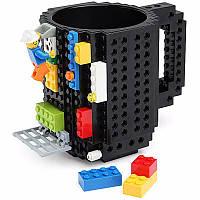 Чашка конструктор Черная