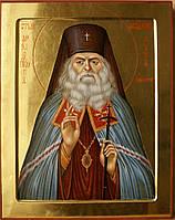 Сусальное золочение аналойной иконы Святого Луки Крымского.