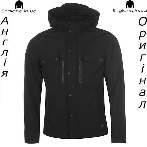 Куртка Firetrap черная весенняя с капюшоном