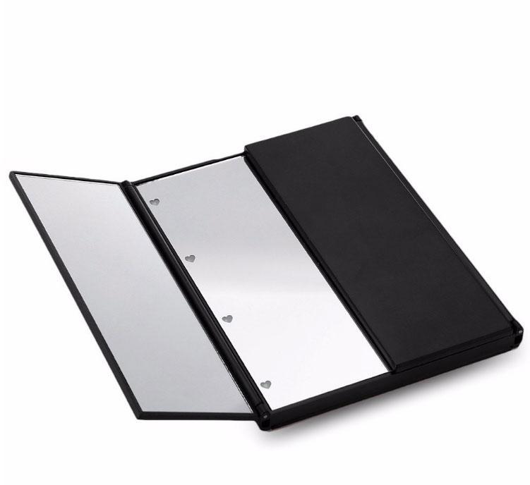 LED Зеркало для макияжа в виде книжечки (Черное)