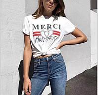 Женская футболка Merci
