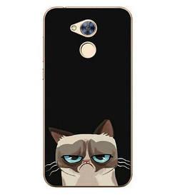 Чехол силиконовый бампер для Huawei honor 6A с картинкой угрюмый кот