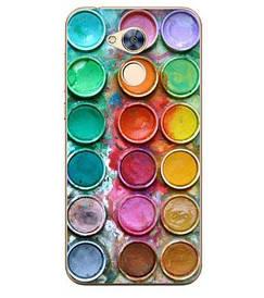 Чехол силиконовый бампер для Huawei honor 6A с картинкой палитра красок