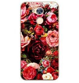 Чехол силиконовый бампер для Huawei honor 6A с картинкой розы