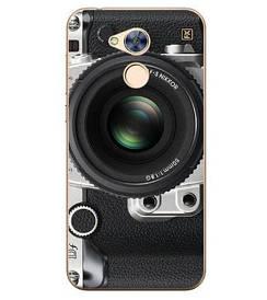 Чехол силиконовый бампер для Huawei honor 6A с картинкой объектив
