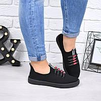 Кеды женские Red V черные 4552, кеды женские осенняя обувь