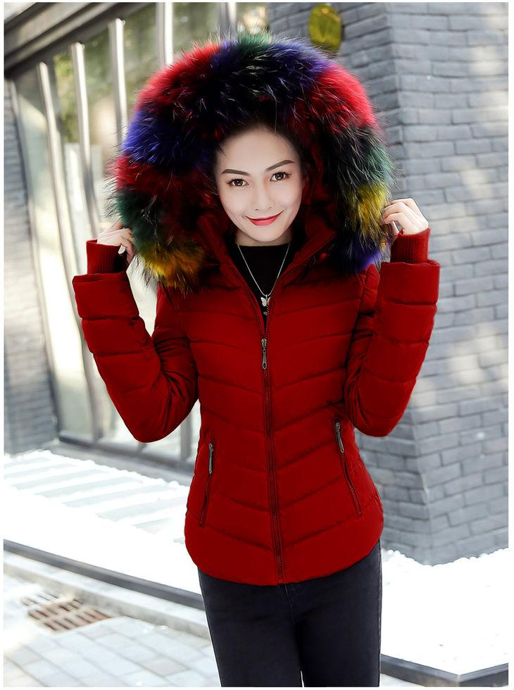 Женский теплая зимняя куртка с капюшоном