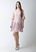 Розовое платье с плиссированной юбкой Amodediosa