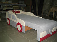 Диван-машина  Молния Макквин светло серый с белым