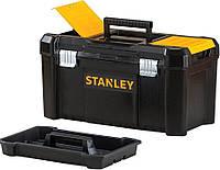 """Ящик для инструментов Stanley ESSENTIAL19"""" пластиковый металлические защелки 480х250х250 мм"""