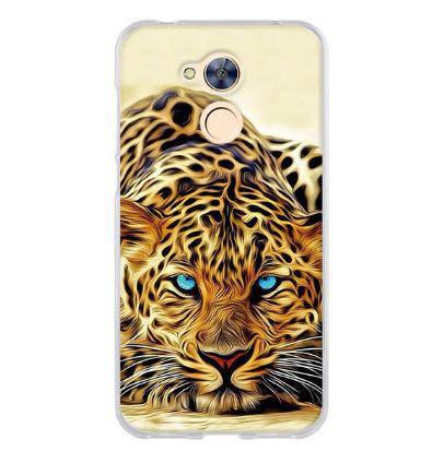 Силиконовый чехол для Huawei honor 6A с рисунком леопард, фото 2