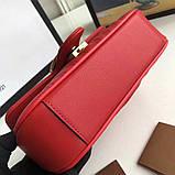 Сумка, клатч Гуччи Marmont натуральная кожа 22 см, цвет красный, фото 8
