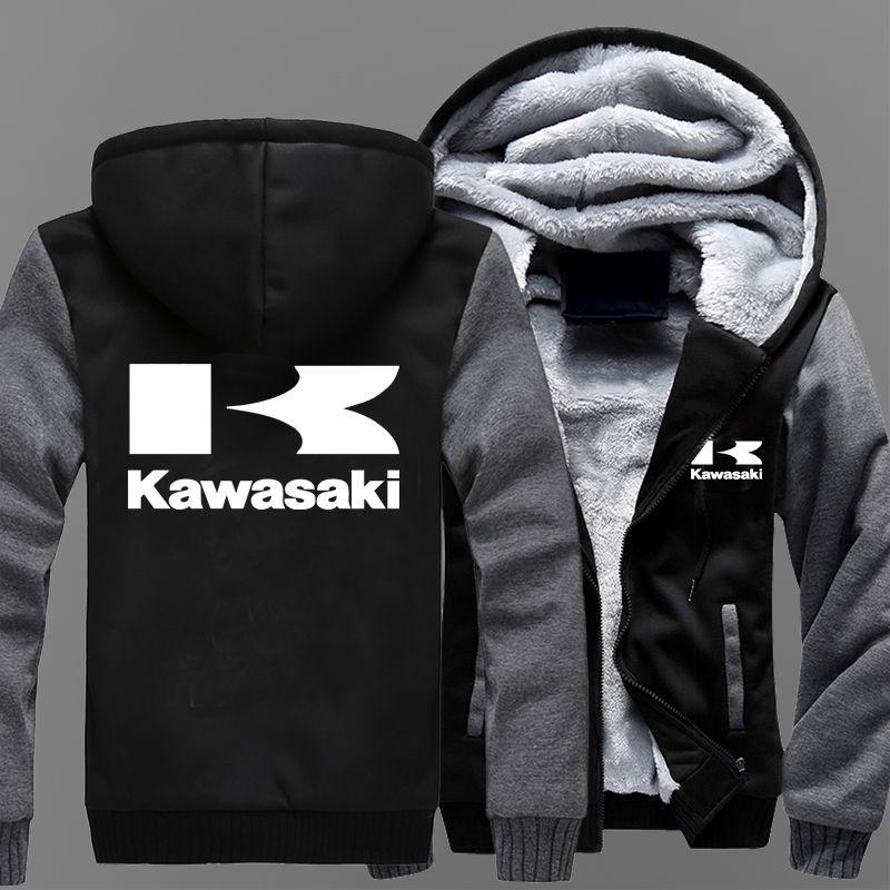 Кашемировая мотоциклетная куртка мужская-(Kawasaki)