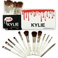 Набор кистей для макияжа KYLIE Professional Brash Set в металлическом кейсе 12 шт.