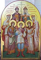 Сусальная позолота икон большого формата с многофигурной композицией.