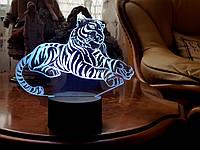 "3D светильник ночник ""Тигр"" 3DTOYSLAMP, фото 1"